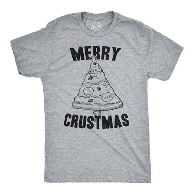 Merry Crustmas Pizza Men's Tshirt