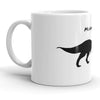 Mondays and Me Funny T-Rex Dinosaur Running Ceramic Coffee Drinking Mug  - 11oz