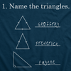 Name The Triangles Men's Tshirt