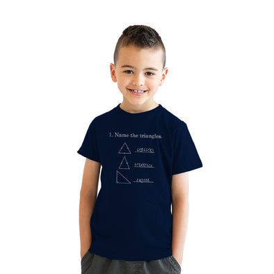 Youth Name The Triangles Funny Math T shirts Sarcasm Novelty I Love Math Tee Humor