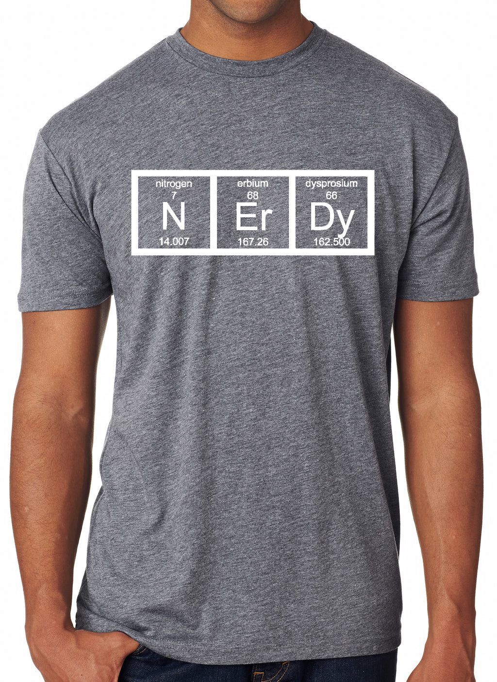 Nerdy Periodic Table T Shirt Funny Science Shirts Mens