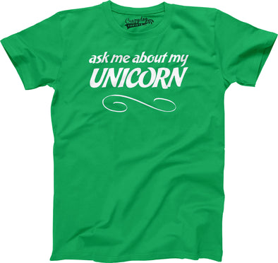 Youth Ask Me About My Unicorn Flip Up Tshirt Funny Mythical Horse Tee For Kids