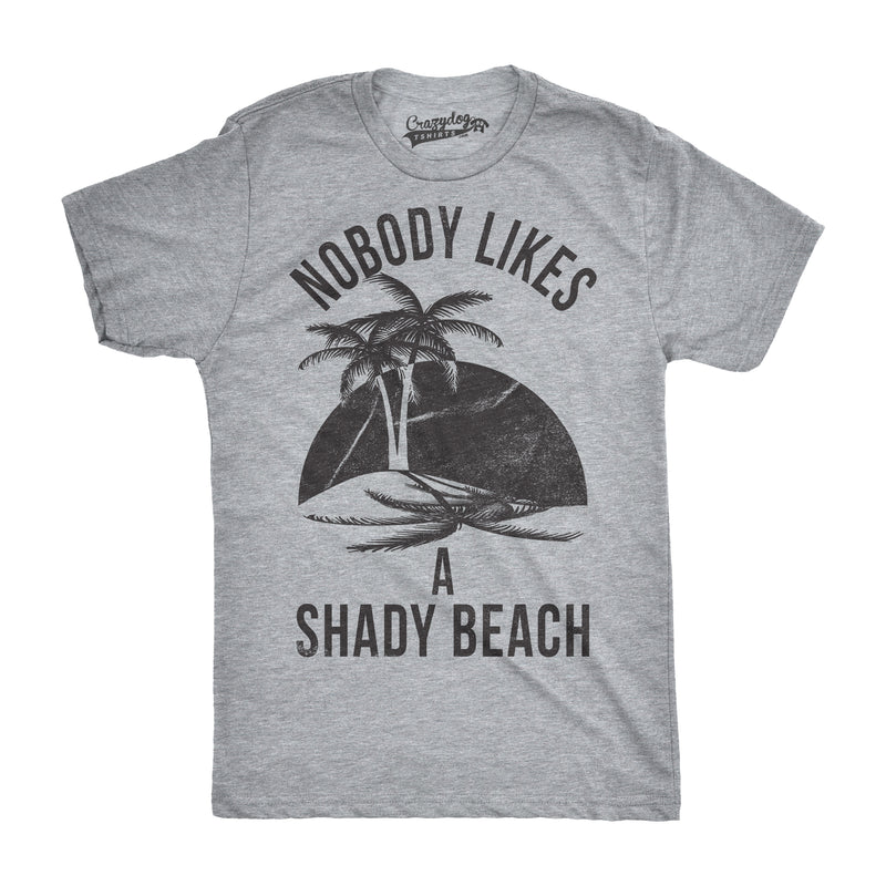Mens Shady Beach Funny Shirts Cute Palm Trees Vintage Novelty Hilarious T shirt
