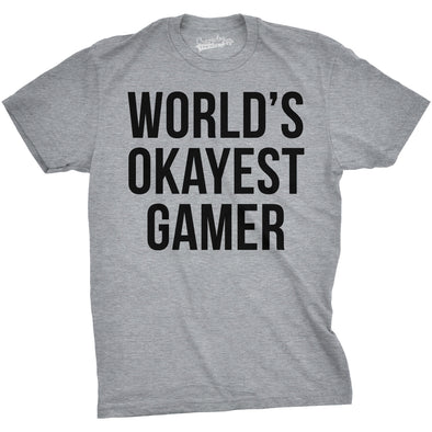 World's Okayest Gamer Men's Tshirt