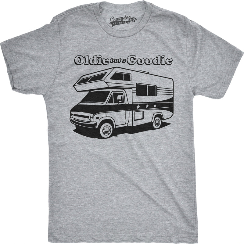 Mens Oldie But a Goodie Funny RV Camper Tee Vintage Shirts Novelty Retro T shirt