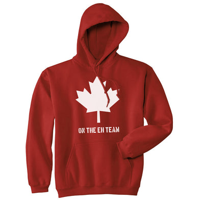 Eh Team Canada Sweater Funny Canadian Shirts Novelty Graphic Hilarious Hoodie