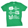 Oh Christmas Tree Your  Ornaments Are History Men's Tshirt