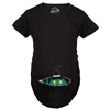Maternity Peeking Witch Baby Halloween Funny Pregnancy Gift T shirt