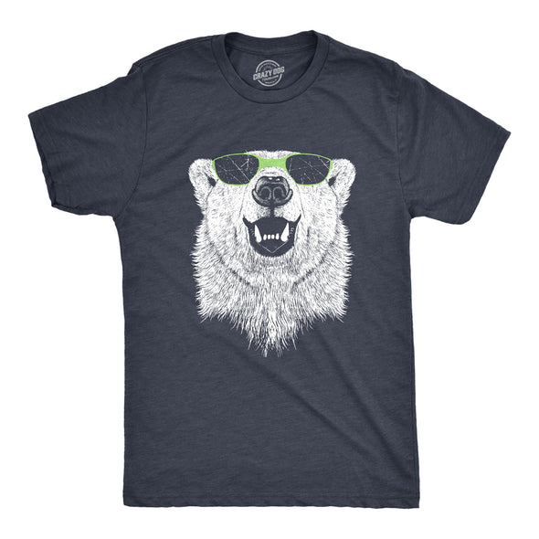 Polar Bear Wearing Sunglasses Men's Tshirt