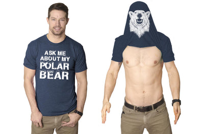 Ask Me About My Polar Bear T Shirt Funny Zoo Animal Flip Up Tee