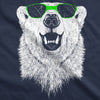 Polar Bear In Sunglasses Graphic Funny Cool Unisex Pull Over Hoodie