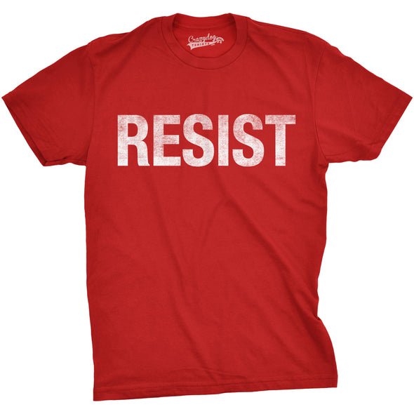 Mens Resist T shirt Political Anti Trump Protest Tee Impeach Resistance Graphic