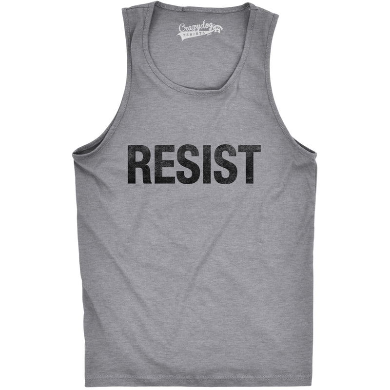 Mens Resist Tank United States of America Protest Rebel Political Fitness Tank Top