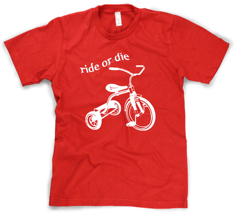 Ride or Die Tricycle T-Shirt Funny Vintage Trike Shirt