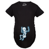 Maternity Rockstar Skeleton Funny Halloween Pregnancy Music T shirt