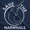 Save The Narwhals Men's Tshirt