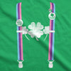 Womens Rainbow Suspenders Funny Saint Patricks Day Shamrock St Pattys T Shirt
