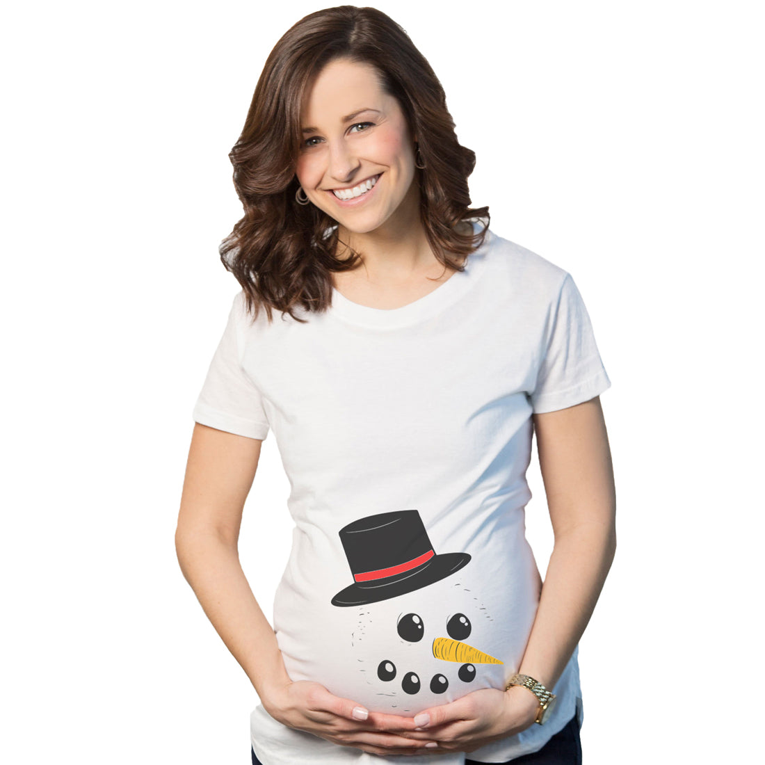 maternity snowman face tee announce pregnancy funny christmas pregnant t shirt
