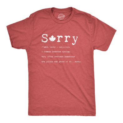 Sorry Definition Men's Tshirt