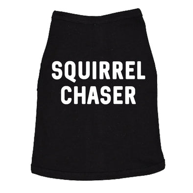 Dog Shirt Squirrel Chaser T shirt Funny Clothes For Small Breed Daschund Corgi