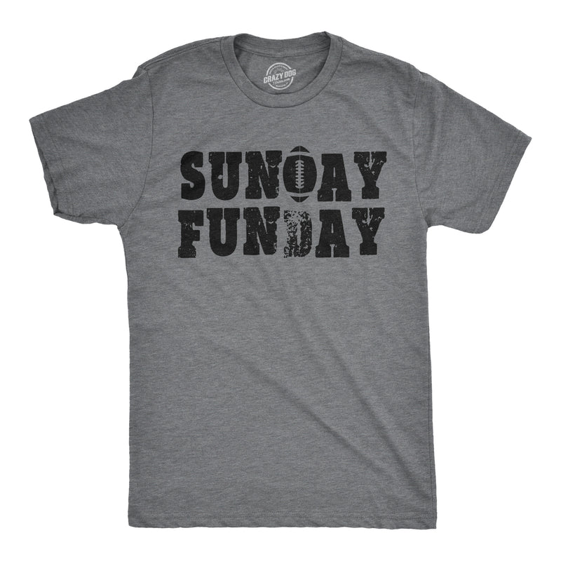 Mens Sunday Funday Vintage Football Sports Weekend Partying T shirt