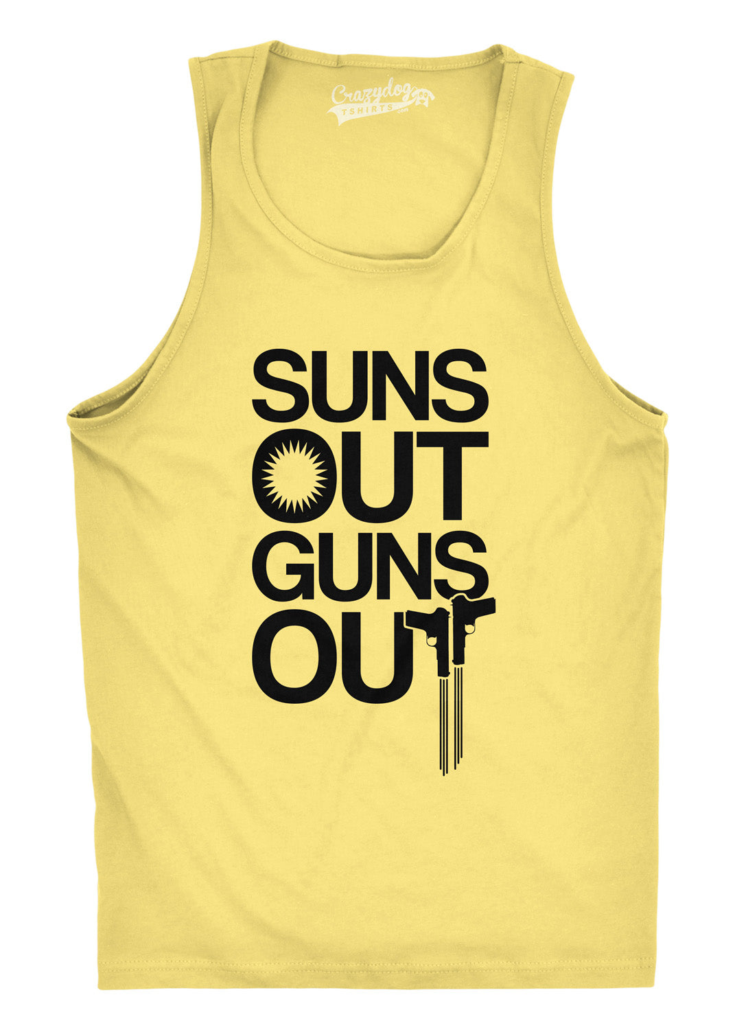 80073031e9fae Mens Suns Out Guns Out Tank Funny Workout Tanks Hilarious Gym Shirt ...