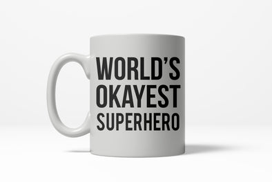 Worlds Okayest Superhero Funny Comic Nerdy Ceramic Coffee Drinking Mug 11oz Cup