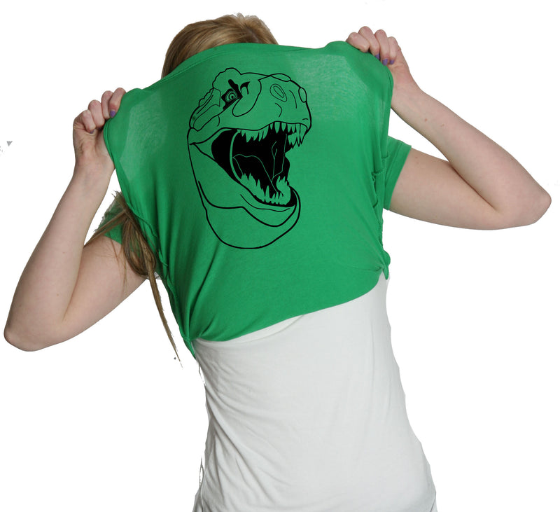 Womens Ask Me About My Trex T-shirt Funny Cool Dinosaur Trex Flip Shirt Novelty Tees