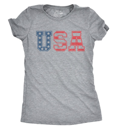 Womens USA Vintage T Shirt 4th Of July Indepence Day Tshirt Patriotic America