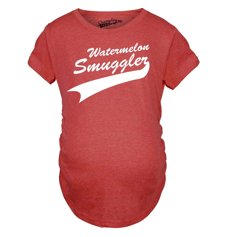 Maternity Watermelon Smuggler Shirt Funny Pregnancy T shirts Announcement Ideas