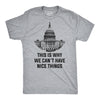 This Is Why We Can't Have Nice Things T Shirt Funny Anti Trump Political Tee
