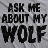 Youth Ask Me About My Wolf Awesome Flip Shirt for Kids