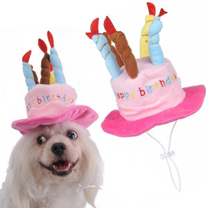 Birthday Pet Hat Cat Dog Party With Cake And Colorful Candles Costume Accessory