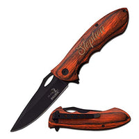 Froolu Personalized Knife - Laser Engraved Knife - Personalized Pocket Engraved Hunting Knife for Guys