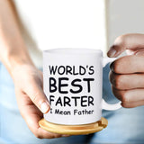 World's Best Farter Dad Coffee Mug Birthday Christmas Gifts Funny Mugs for Dad From Son, Daughter, Wife - 11 oz, White