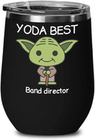 Yoda Best - Civil Engineer - Birthday Present, Anniversary, Valentines, Special Occasion, Dads, Moms, Family, Christmas - 12oz Funny Vacuum Insulated Wine Glass