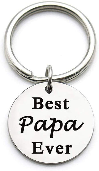 XYBAGS Father's Day Christmas Birthday Gift for Father Dad Keychain, Best Papa Gifts Idea from Daughter Son Kids, Best Papa Ever
