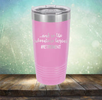 Retirement Adventure - Engraved Tumbler Wine Mug Cup Unique Funny Birthday Retirement Gift Ideas for him, her, mom, dad, husband, wife Retired Mimi (20 Ring, Navy