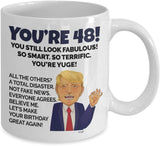 48th Birthday Mug 48 Year Old Funny Coffee Cup Gifts for Mom Dad Men Women Born In 1972 - Turning Forty Eight Years Happy Bday Yr Party 11oz Or 15 Oz Large Mug By Whizk MTBA48
