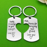 Keychains For Parents From Daughter Fathers Mothers Birthday Jewelry I'll Always Be Your Little Girl Keychain Love You Key Chain Personalized Keychain Mother's Day Father's Day Christmas Gift
