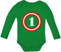 Captain 1st Birthday - Gift for One Year Old Infant Baby Long Sleeve Bodysuit
