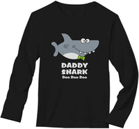 Daddy Shark Doo doo doo for Dad Birthday Long Sleeve T-Shirt
