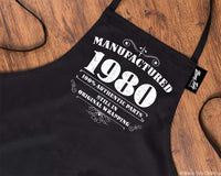 40th Birthday Gifts for Men Him Dad Husband BBQ Cooking Apron Manufactured 1980