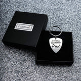 Father's Day Gifts Dad Gifts Personalized Keychain for Stepfather I Couldn't Pick a Better Dad Guitar Pick Gift from Wife Daughter Son Birthday Gift for Men