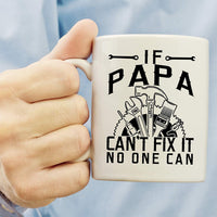 Muggies Papa Can Fix Mug - Gift For Dad And Grandpa! Coffee Tea 11oz Cup Unique Gifts For Men & Husband! Christmas, Birthday, Father's Day Gifts - Papa The Man The Myth The Legend!+ Woodworking Ebook