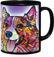 Dean Russo Corgi Coffee Ceramic Mug| Christmas Birthday Valentine's Mothers Fathers Day Gift For Dog Lover Mom Dad Friend Pet Owners|colorful Corgi|pop Art - Mug