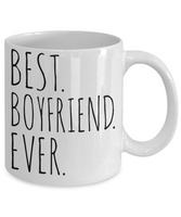 Best Boyfriend Ever Mug Gift For Him Men Holiday Birthday Minimalist Coffee Cup