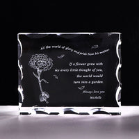 Customized Gift for Dad Personalized Crystal Letter Frame Laser Engraved Birthday Gift for Dad Father's Day Present Souvenir