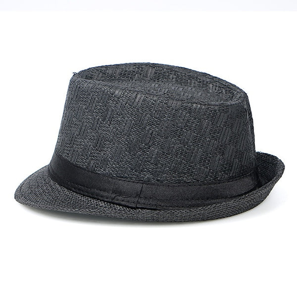 Fashion Summer Cap 2019 Chapeu Cowboy Hats Straw Hats Men Black Solid beach Panama Hat Jazz Fedora sunhat gorro hombre