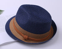 Family Matching Straw Belt Father Son Men Boys Hat For Kids Star Sun Cap Bohemia Caps Beach Accessories